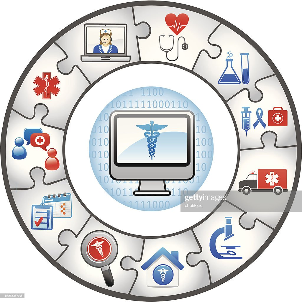 Medical Healthcare Service And Information Technology Puzzles Vector on medical credentialing services, medical reimbursement services, medical personnel services, medical billing services, medical laboratory services,