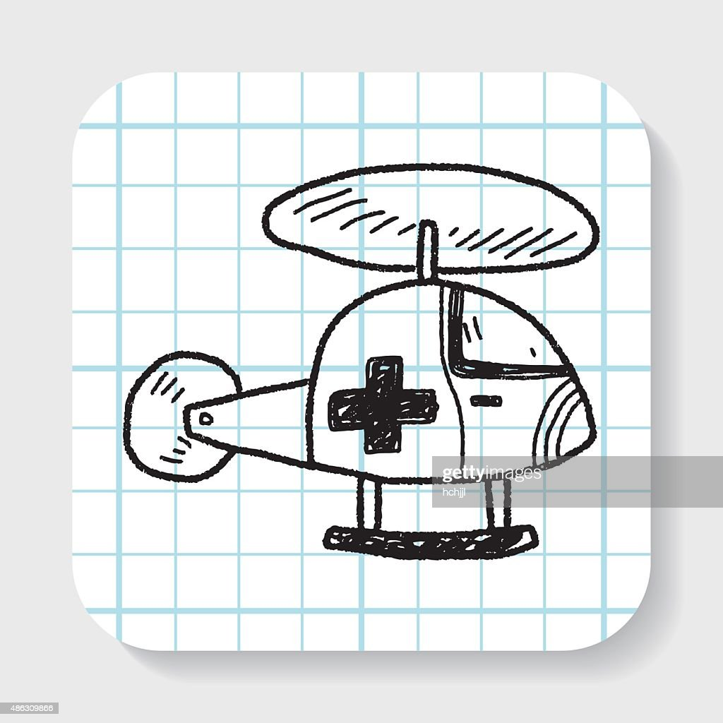 medical helicopter doodle