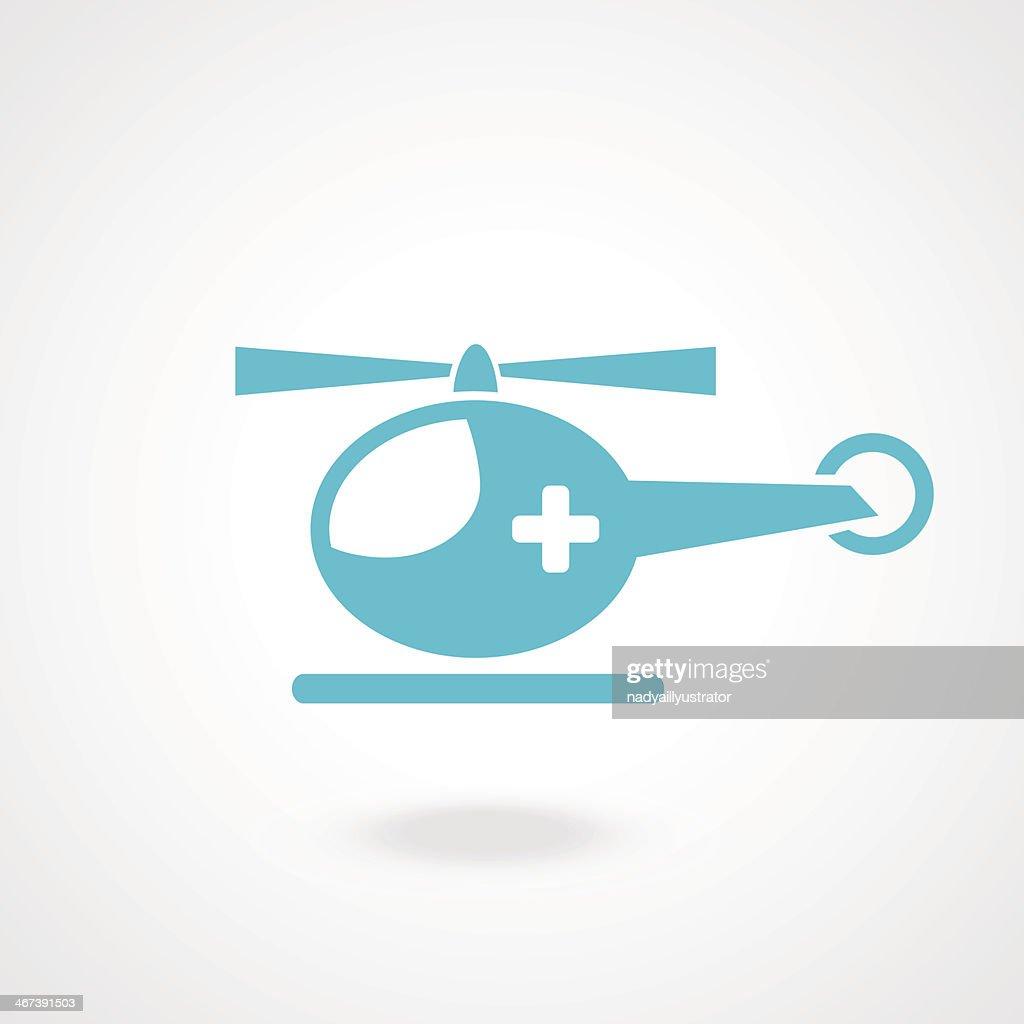 medical helicopter - vector illustration