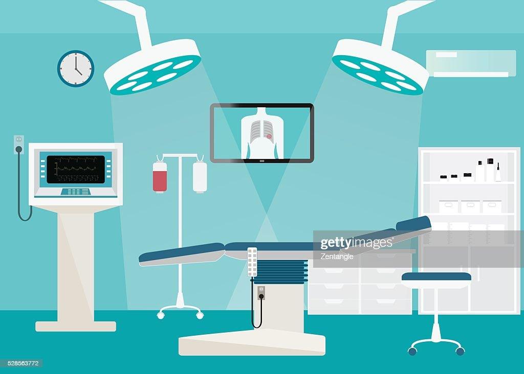 Medical hospital surgery operation room.