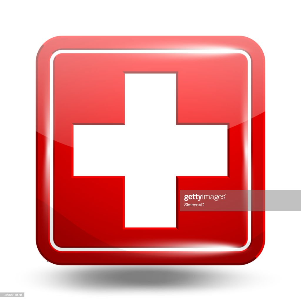 Medical Icon. Emergency Symbol Red Set