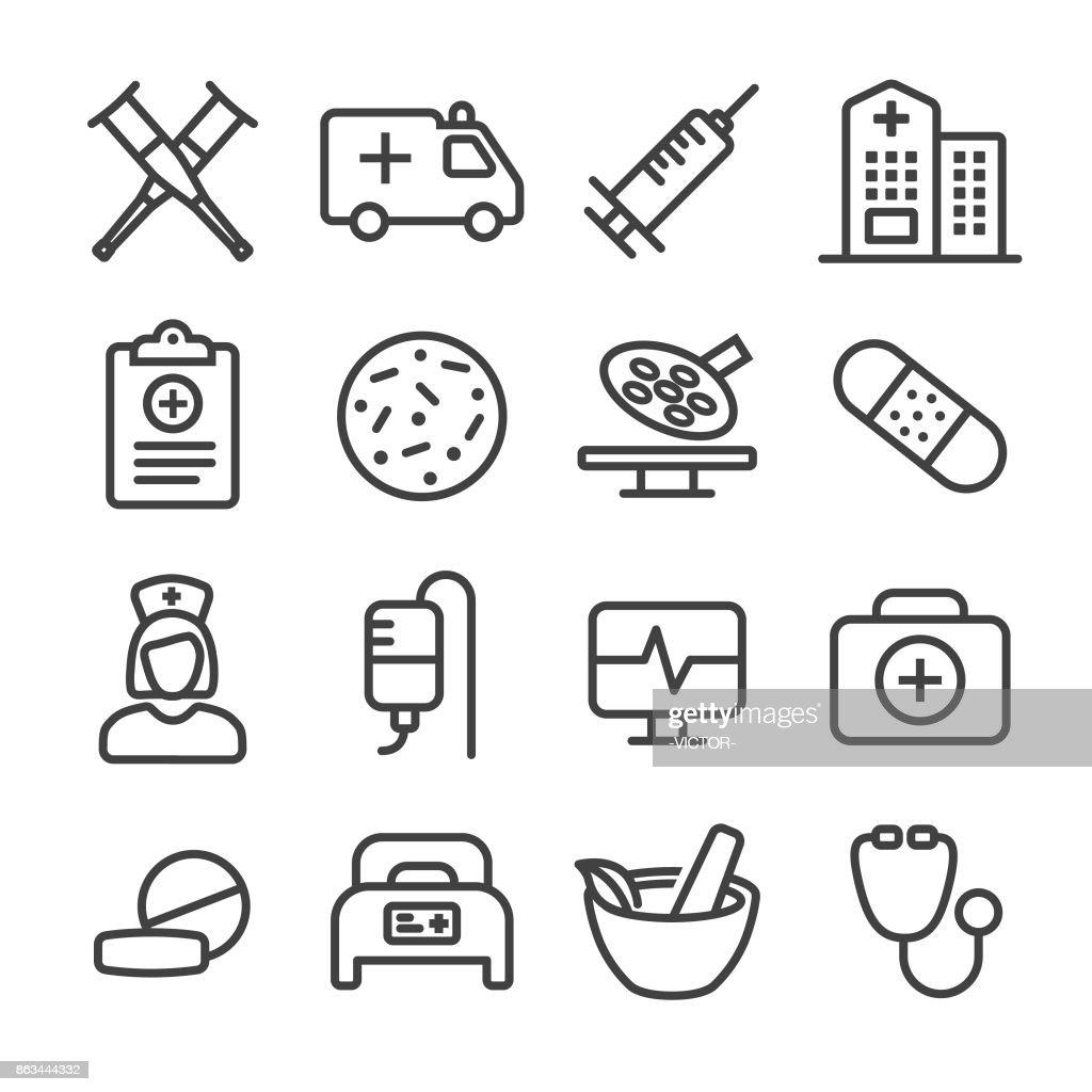 Medical Icon - Line Series : stock illustration