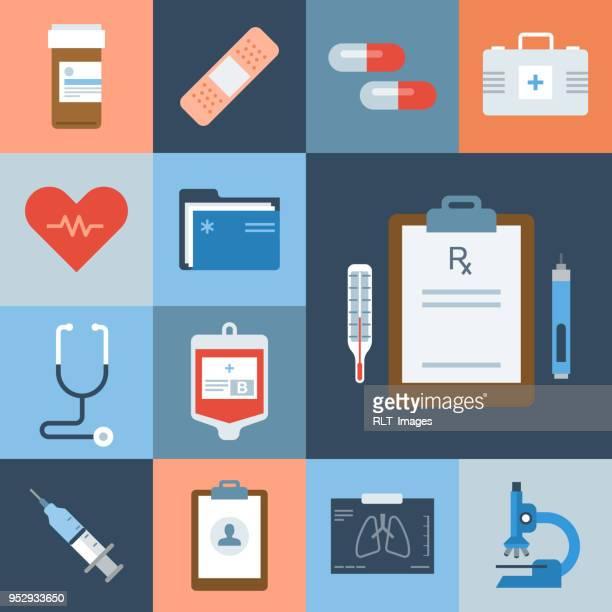 Medical Icon Set — Grid Series