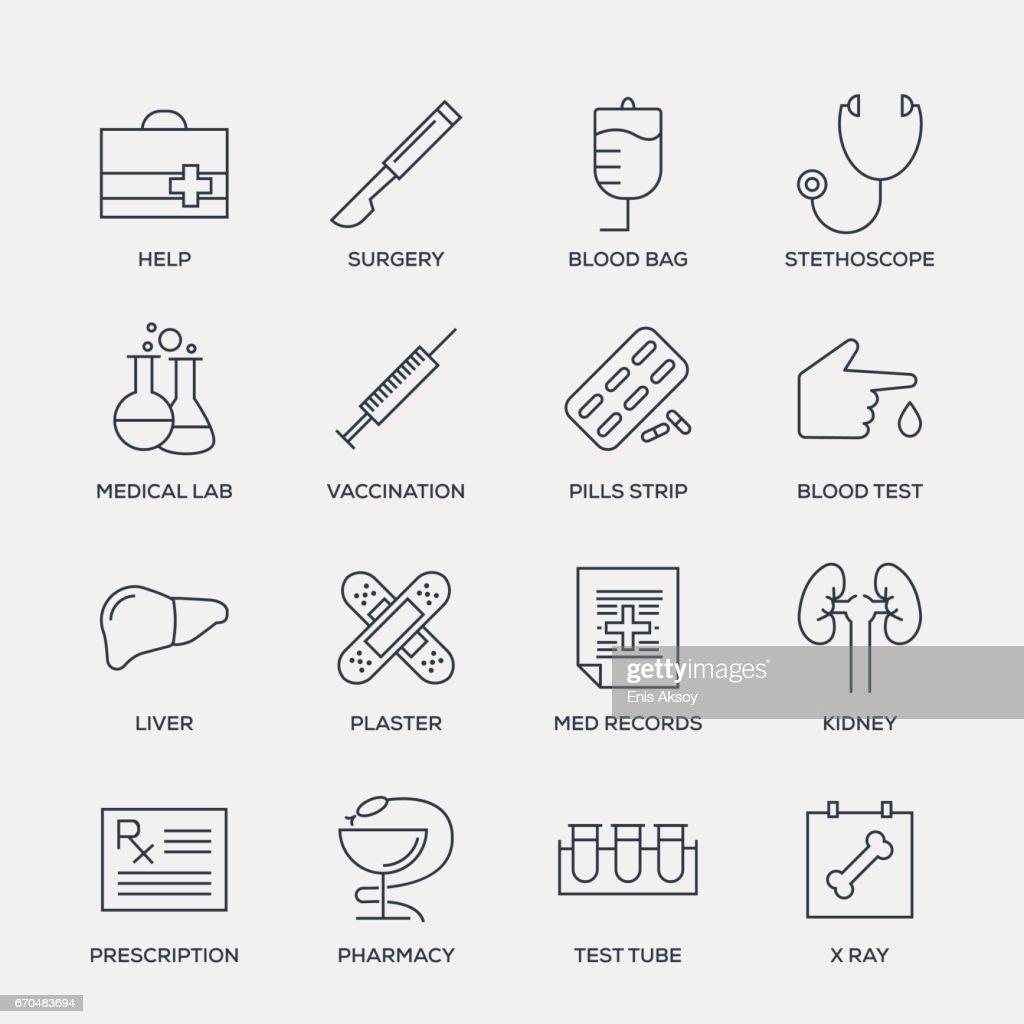 Medical Icon Set - Line Series