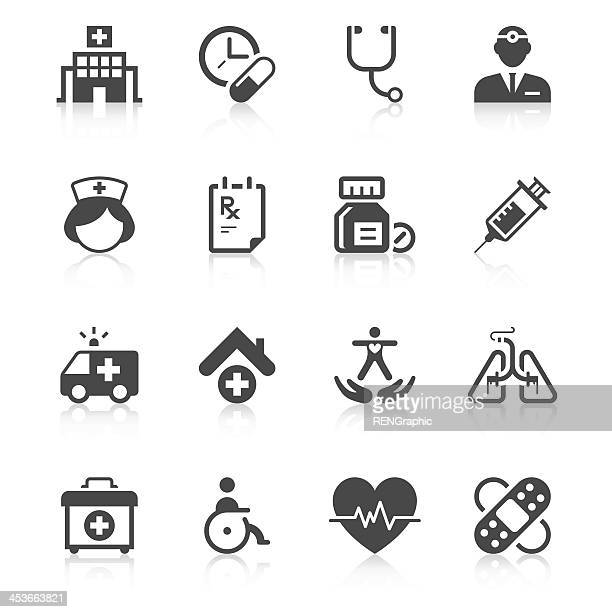 medical icon set | unique series - carer stock illustrations, clip art, cartoons, & icons