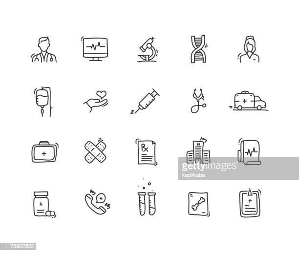 医療アイコンセット - レントゲン撮影装置点のイラスト素材/クリップアート素材/マンガ素材/アイコン素材