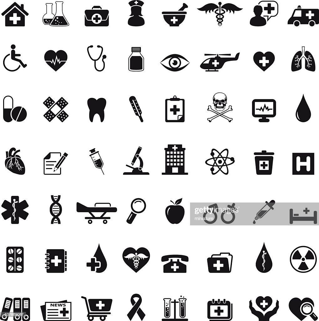 医療アイコンセット : ストックイラストレーション