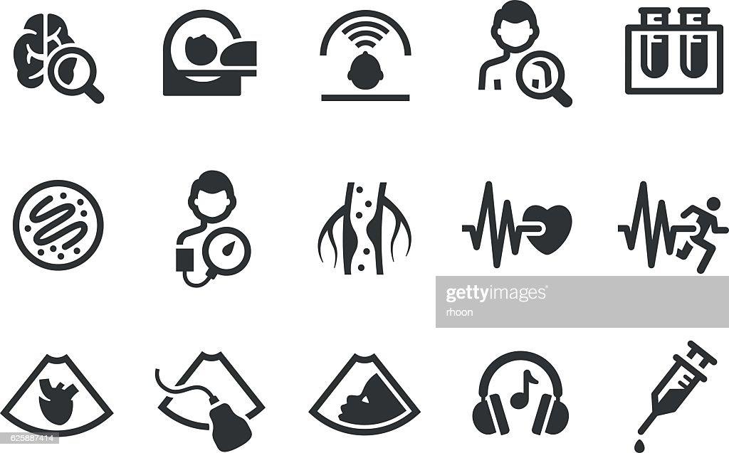 Medical icon set : stock illustration
