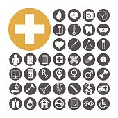 Medical Icon set vector illustration