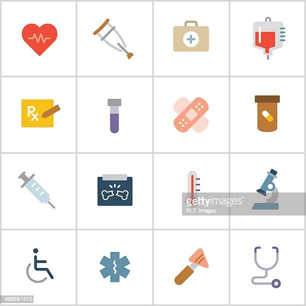 Iconos médicos — poli serie 1
