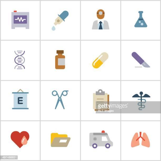 ilustrações, clipart, desenhos animados e ícones de medical ícones 2-poly series - exame de vista exame médico