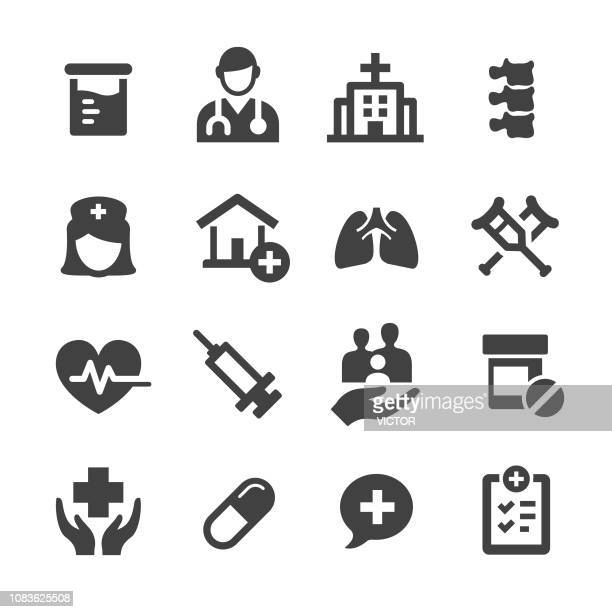 medical icons - acme series - injecting stock illustrations