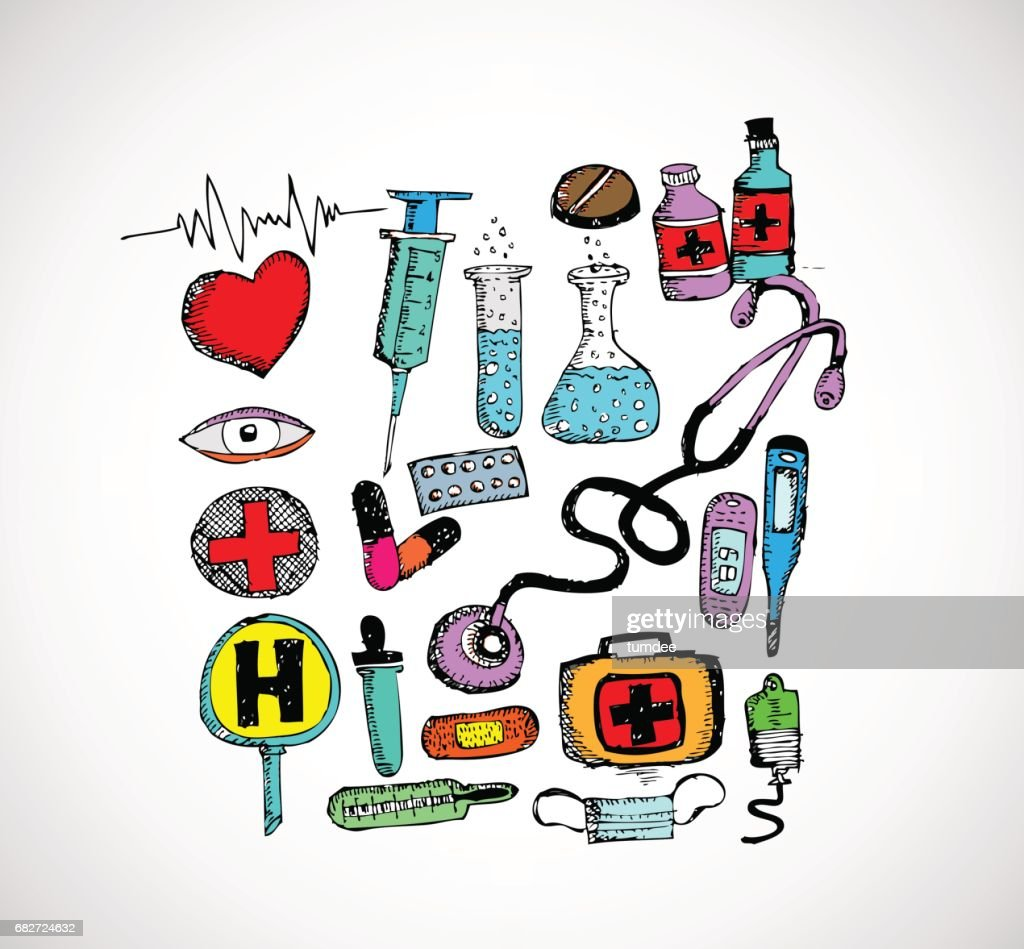medical icons and medical symbol