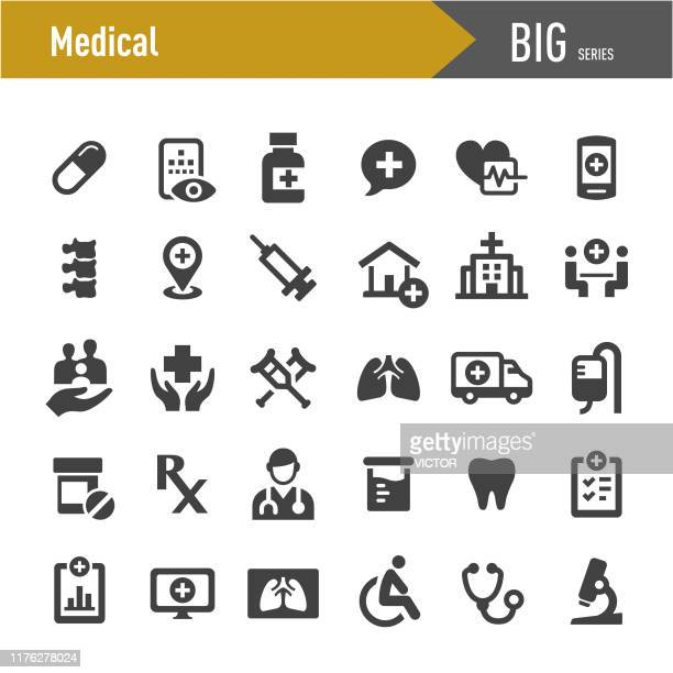 medical icons - big series - injecting stock illustrations