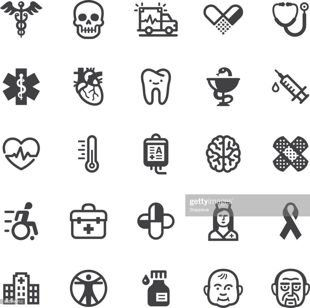 Medical icons - Black series : stock illustration