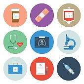 Medical Icons — Circle Series