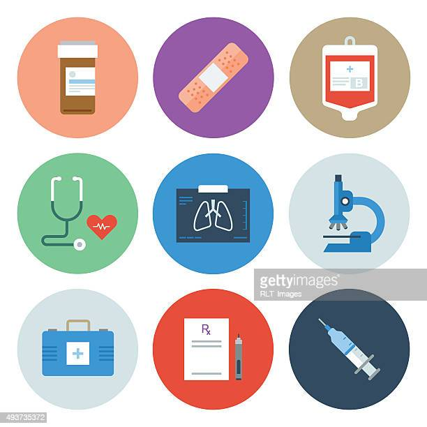 medical icons — circle series - prescription stock illustrations, clip art, cartoons, & icons
