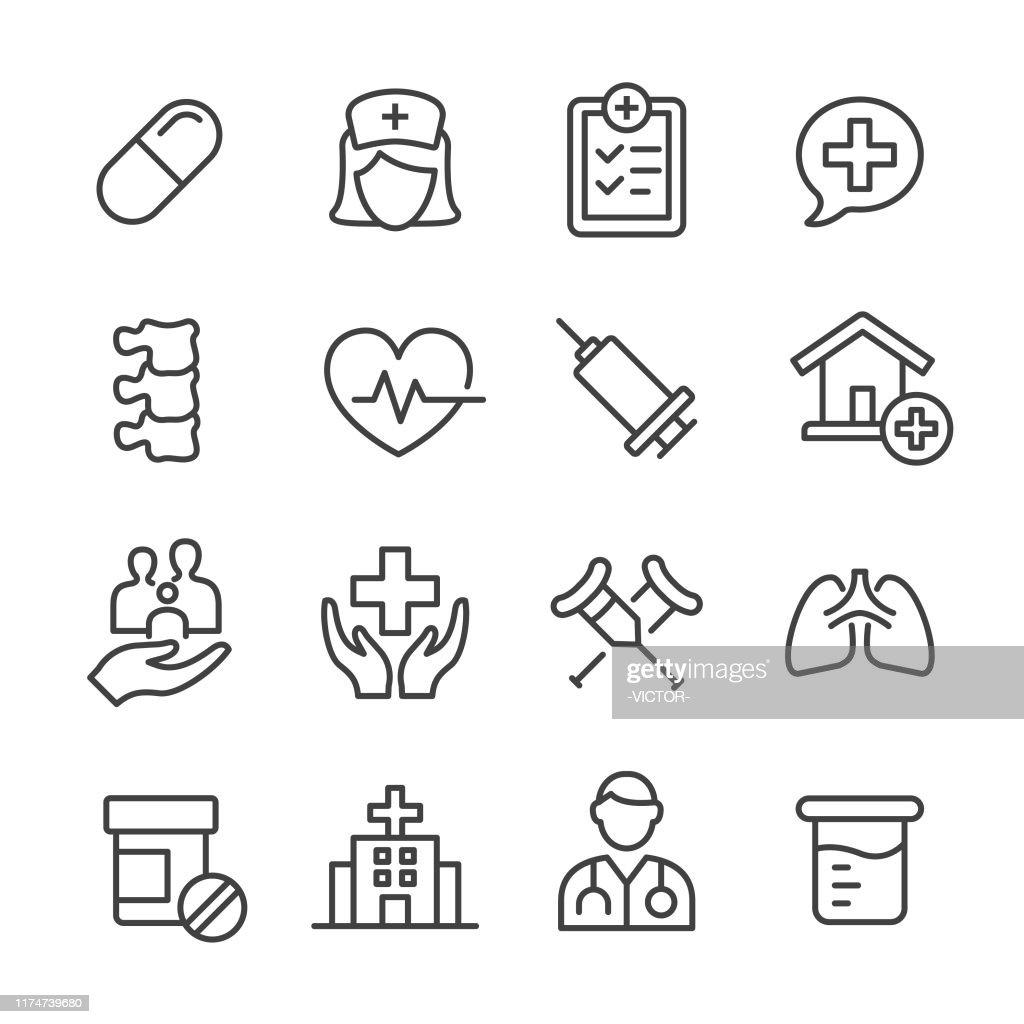 Ícones médicos-série da linha : Ilustração