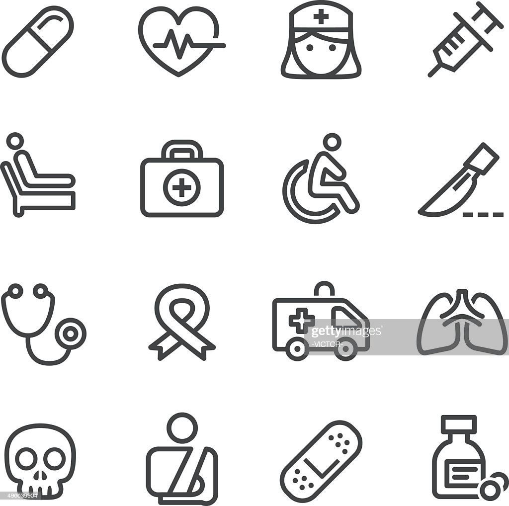 Medical Icons - Line Series : stock illustration