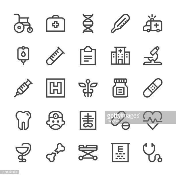 medical icons - mediumx line - furniture stock illustrations, clip art, cartoons, & icons