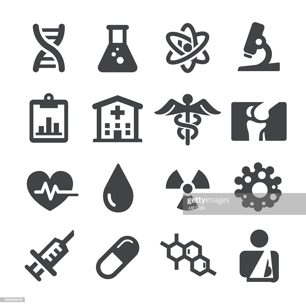Medical Icons Set - Acme Series : Stock-Illustration