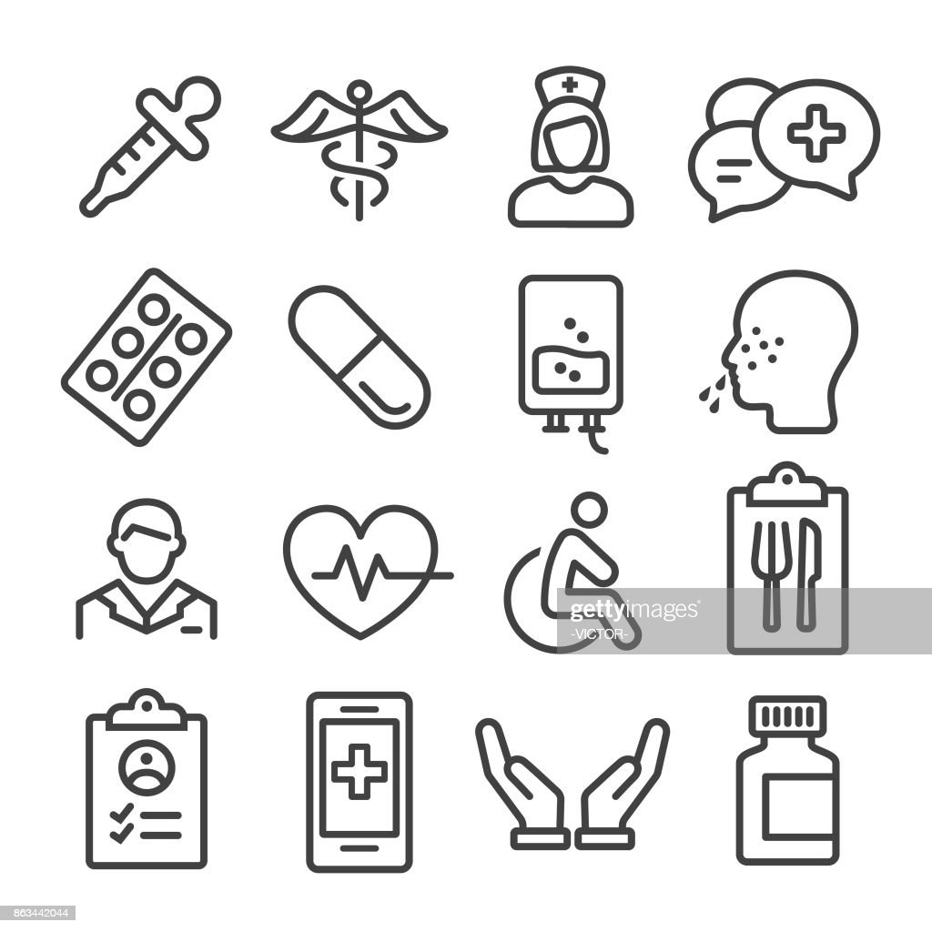 Medical Icons Set - Line Series