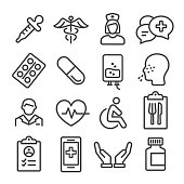 Medical Icons Set - Line Series