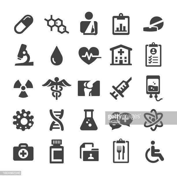 medical icons set - smart series - recreational drug stock illustrations, clip art, cartoons, & icons