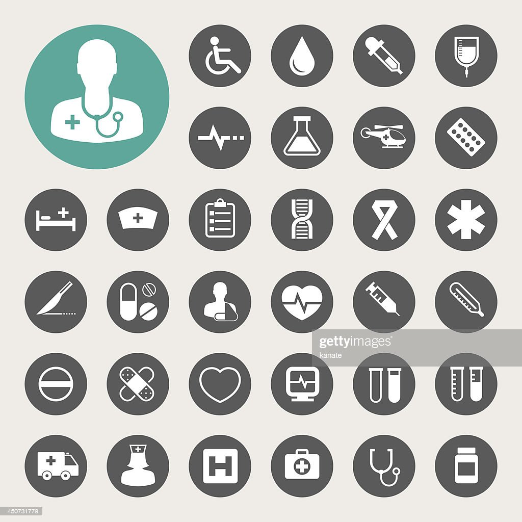 Medical icons set.