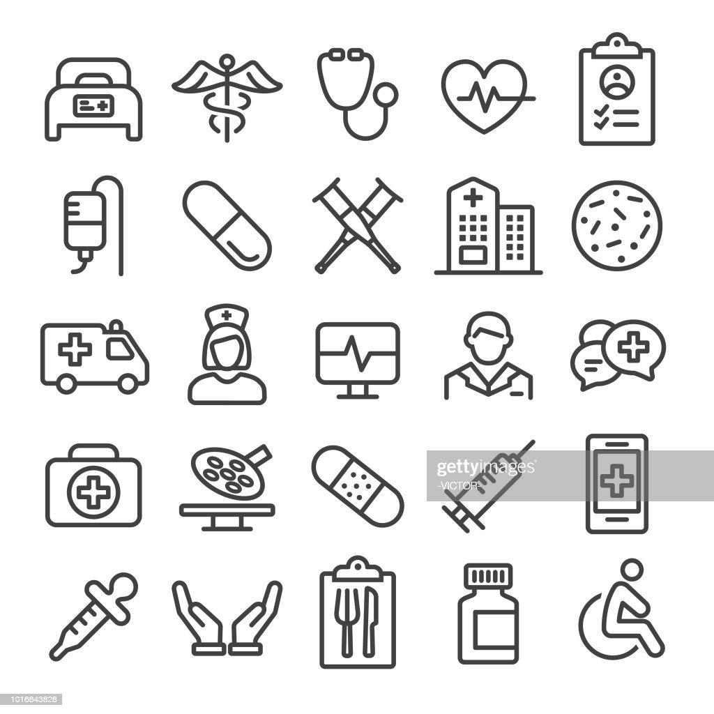 Ícones de médicas - linha inteligente série : Ilustração