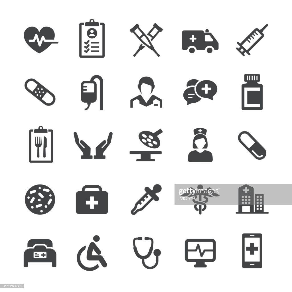 Iconos médicos - serie inteligente : Ilustración de stock