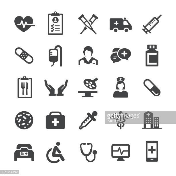 medical icons - smart series - medical exam stock illustrations