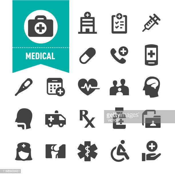 medical icons - special series - neurosurgery stock illustrations, clip art, cartoons, & icons