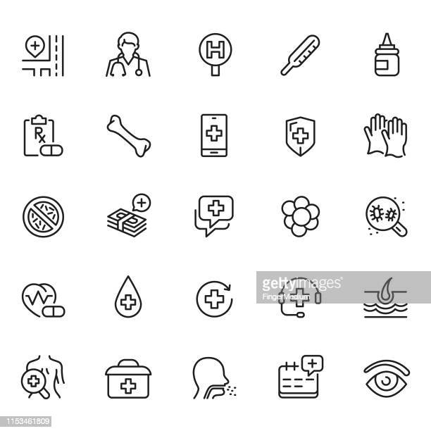 medical icons - asthmatic stock illustrations