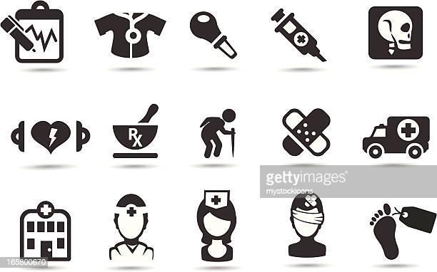 stockillustraties, clipart, cartoons en iconen met medical icons - autopsy