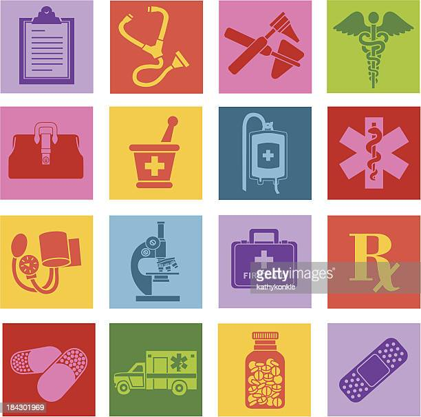 medical icons - blood bag stock illustrations, clip art, cartoons, & icons