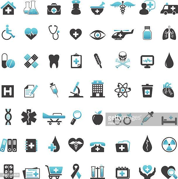 medical icons - medical symbol stock illustrations, clip art, cartoons, & icons