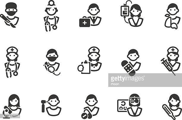 medical icons - surgeon stock illustrations, clip art, cartoons, & icons