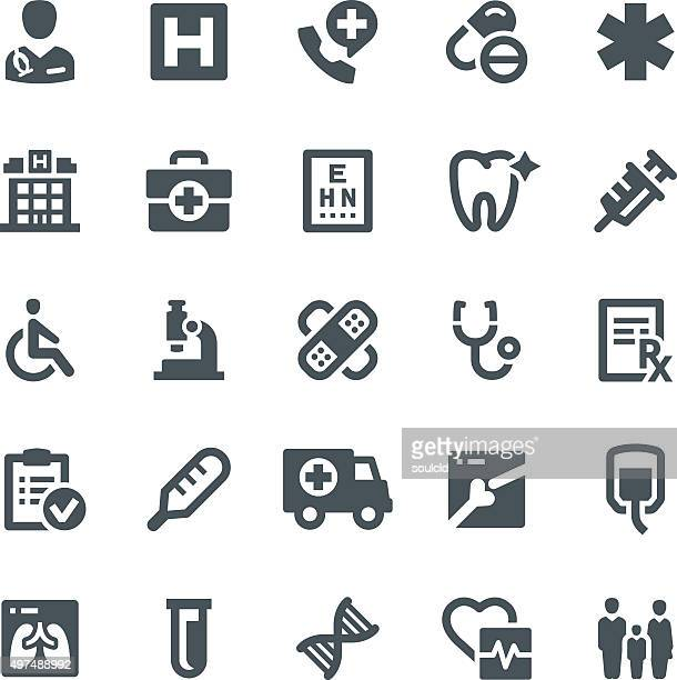 medical icons - cardiologist stock illustrations