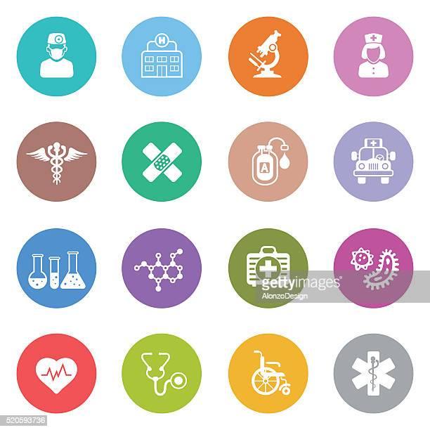 ilustrações, clipart, desenhos animados e ícones de ícones de médico - símbolo médico