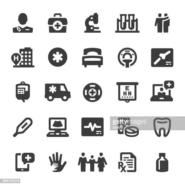 medical icons - medical x ray stock illustrations