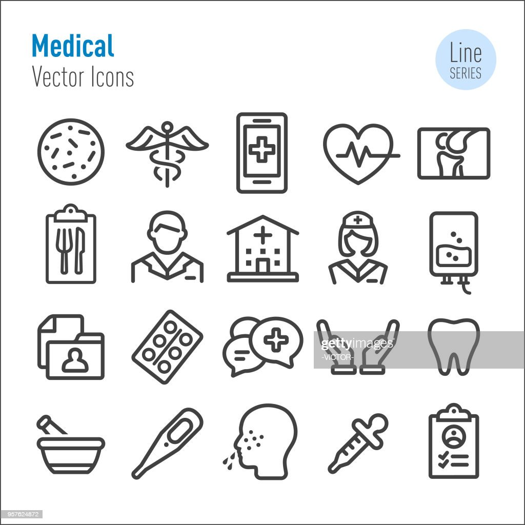 Medical Icons - Vector Line Series
