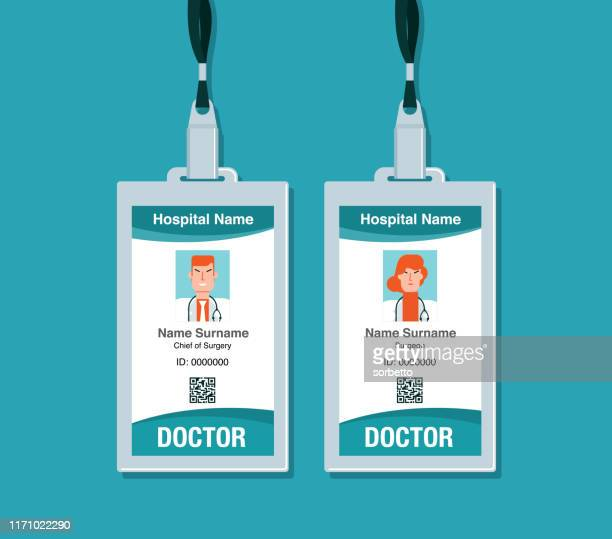 medical id card - id card template stock illustrations