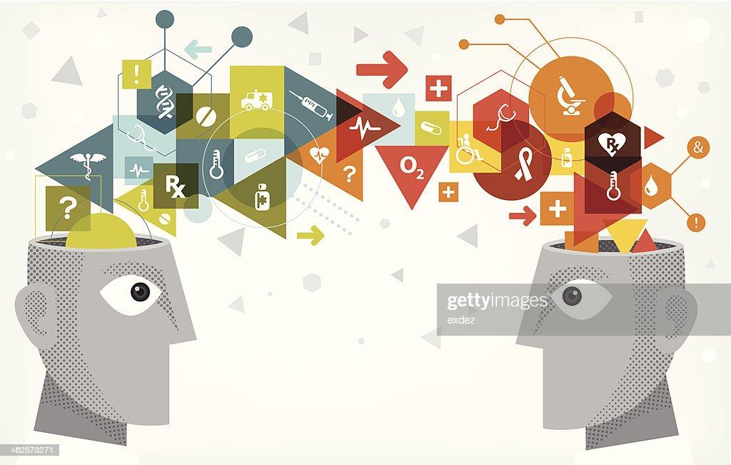 Medical idea sharing : stock illustration