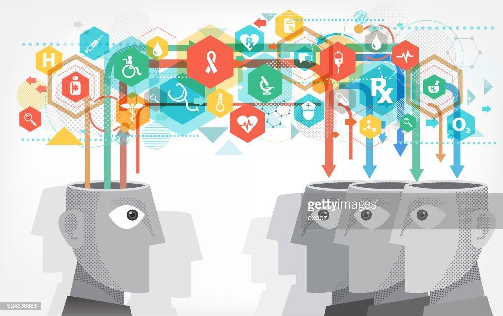 Medical ideas sharing : stock illustration