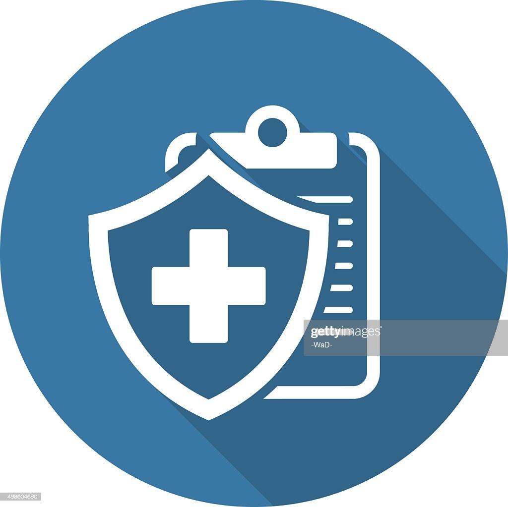 Medical Insurance Icon. Flat Design.