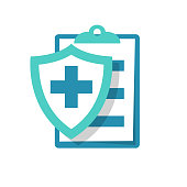 Medical insurance icon. Patient protection