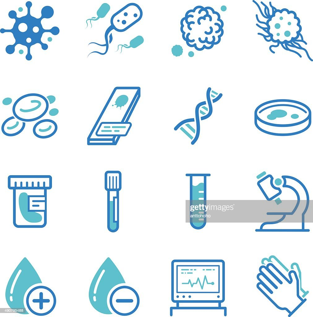 Medical laboratory icons