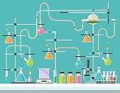 Medical laboratory. Vector flat illustration