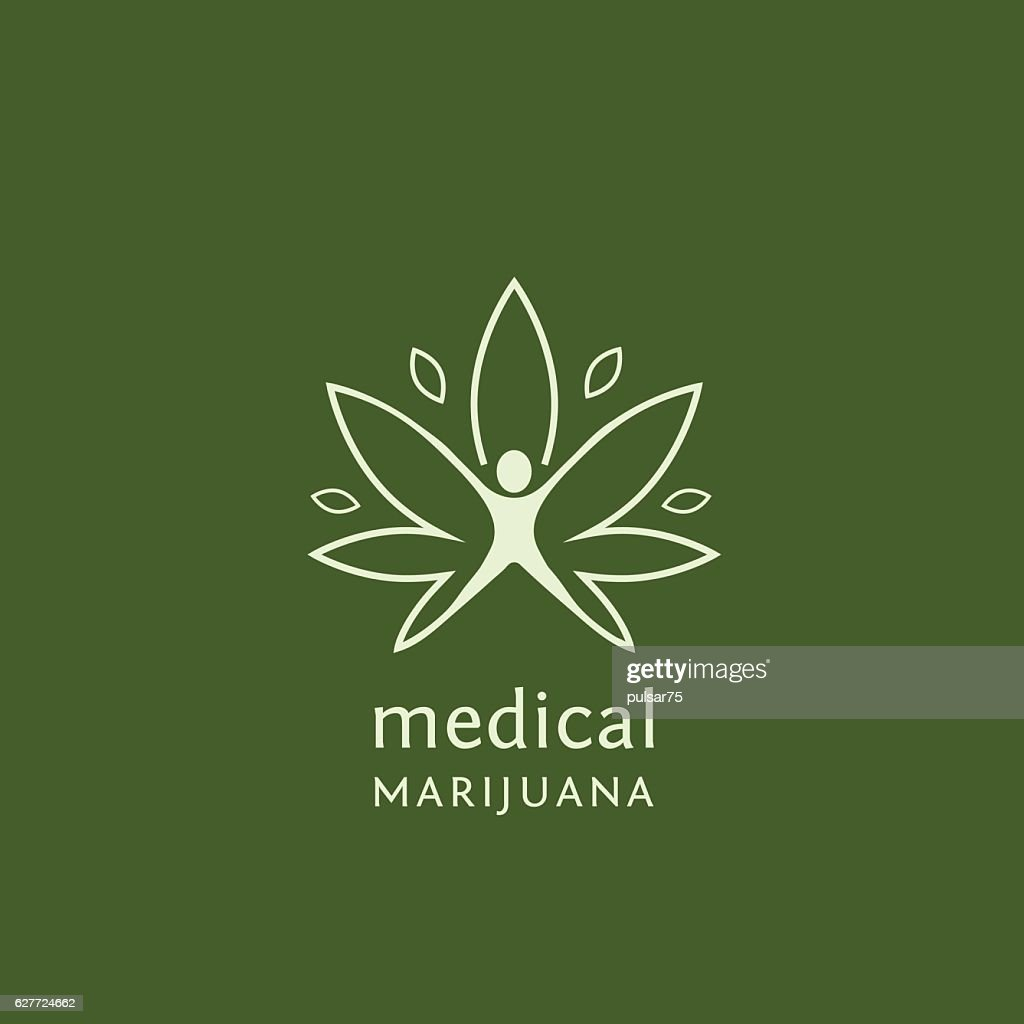 Medical marijuana product labels and logo graphics
